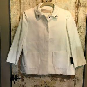 New Zara Basic Women's Career White Blazer Medium